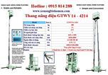 Thang nâng điện GTWY14-4214 hiệu OPK - Nhật Bản