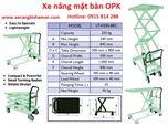 Xe nâng mặt bàn hiệu OPK - Nhật Bản  tải trọng nâng 250 Kg