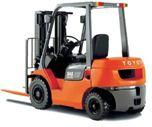 Xe nâng dầu Diese hiệu Toyota tải trọng 2,5 tấn nâng cao 3m đời 2012