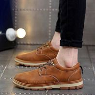 LEATHER SHOES BROWN LP0291