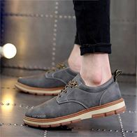LEATHER SHOES GREY LP0292