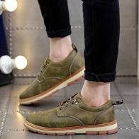 LEATHER SHOES GREEN LP0293