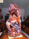 Phật Di Lặc bắp cải, lũa gỗ hương (PL206L)