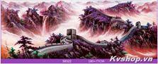 Tranh gắn đá Shanshi -S8322-phong cảnh núi non hùng vĩ