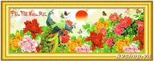 Tranh thêu chữ thập DLH - 222960 - Phu Thê Viên Mãn