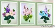 Tranh ruybang silk - s144 - hoa 3 bức