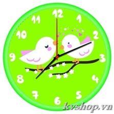 Tranh gắn đá đồng hồ kèm khung - DHK008. Kích thước: 30*30