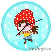 Tranh gắn đá đồng hồ kèm khung - DHK012. Kích thước: 30*30