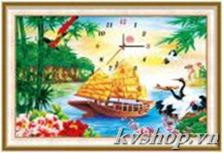 Tranh thêu chữ thập - DLH-A1169 - đồng hồ thuyền