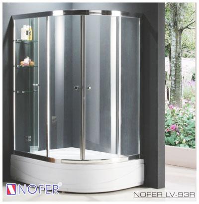 Phòng tắm vách kính Nofer LV-93p đế ngọc trai