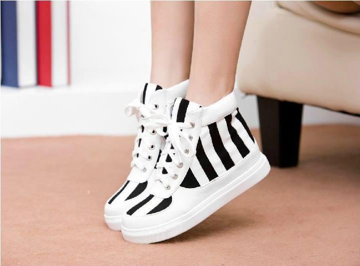 giày bata cổ cao, giày bata đến độn , bata trắng