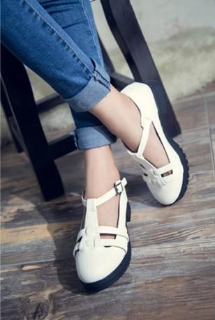 Giày cut out, giày nữ đẹp, giày bánh mì, giày sandal