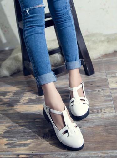 giày cut out, giày giá rẻ, giày bánh mì, giày cut out trắng