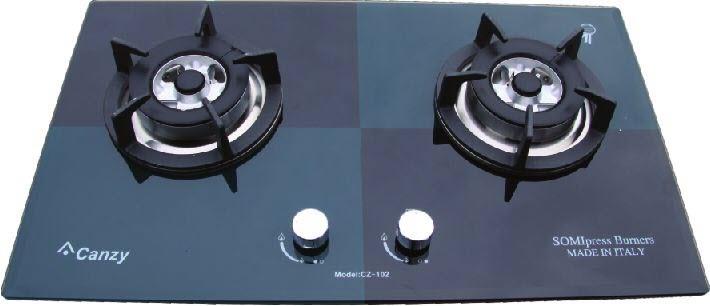 Bếp ga âm CZ 102 Xanh Đen