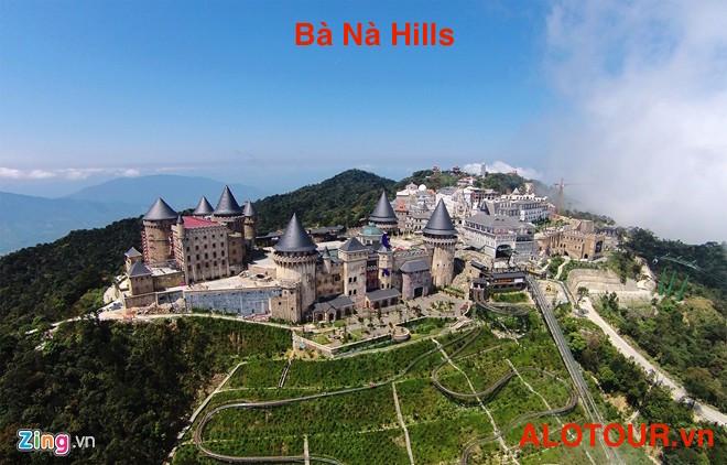 Bà Nà hills nhìn từ trên cao