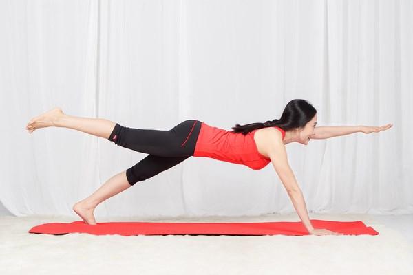 Tư thế 1 của tập Yoga tại nhà.