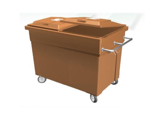 Xe gom rác rác đẩy tay 4 bánh xe