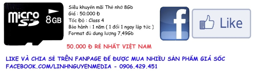 Thẻ nhớ 8Gb class 4