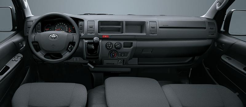 Nội thất Toyota Hiace tiện nghi và sang trọng