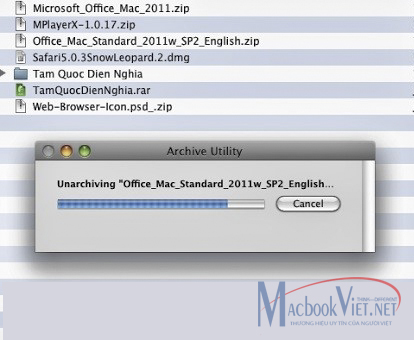 Tải excel về Macbook