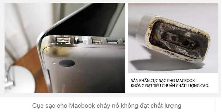 sạc macbook kém chất lượng