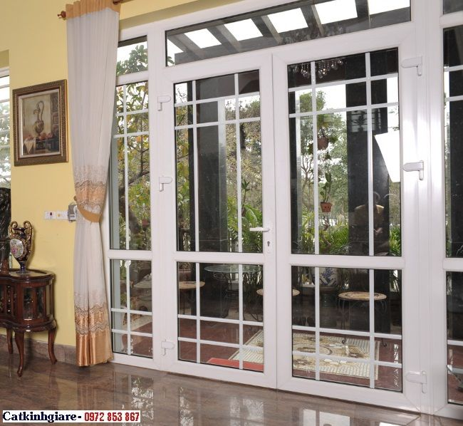 Mẫu cửa nhôm kính cao cấp KN05