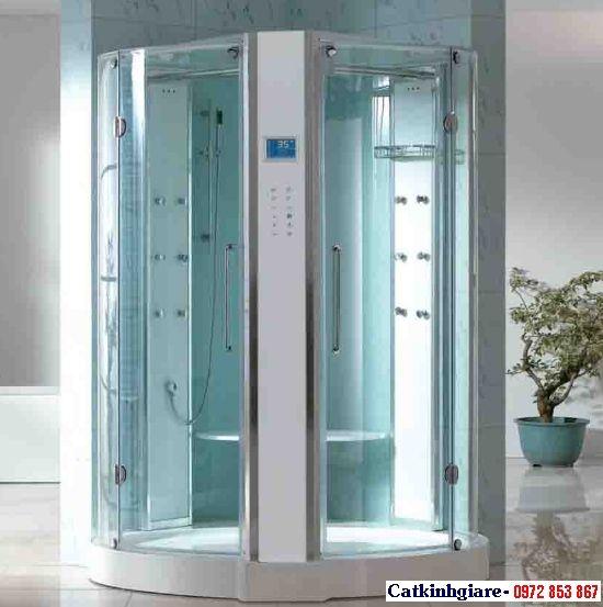 Mẫu phòng tắm kính cong 05