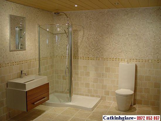 Mẫu phòng tắm kính cong 01