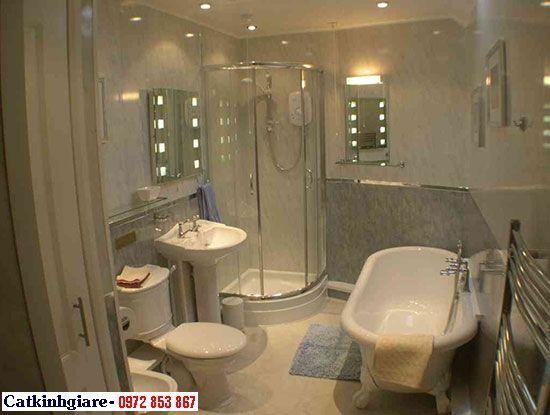 Mẫu phòng tắm kính cong 02