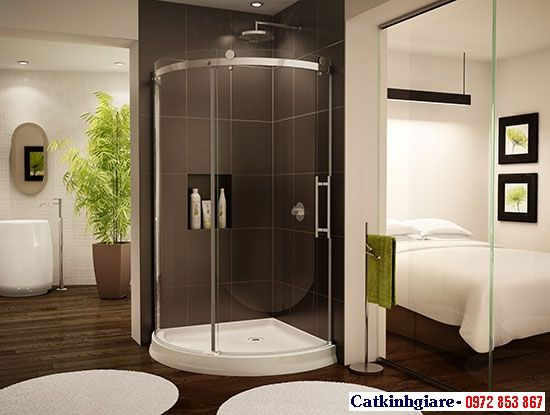 Mẫu phòng tắm kính cong 03