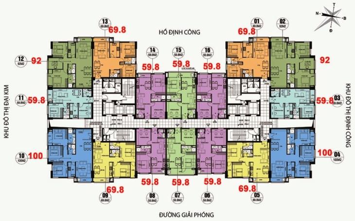 Thiết kế sàn chung cư CT36 Dream Home