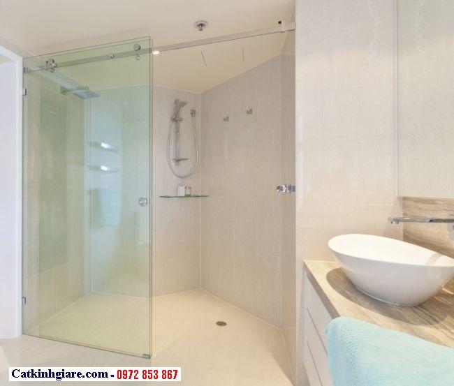 Cửa kính phòng tắm bằng kính cường lực