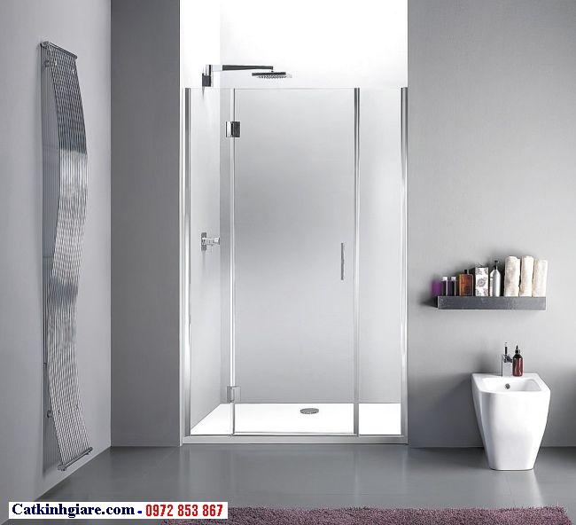 Cửa kính phòng tắm mở quay bằng kính cường lực