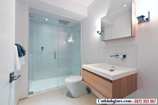 Cửa thủy lực 1 cánh cho phòng tắm