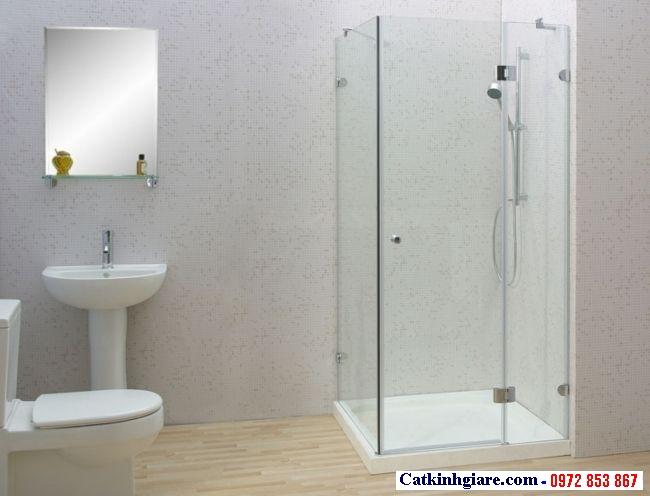 Vách kính phòng tắm góc vuông 5
