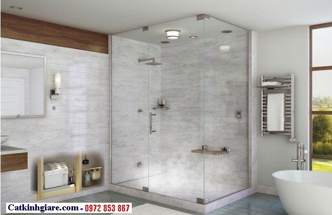 Vách kính phòng tắm góc vuông 6