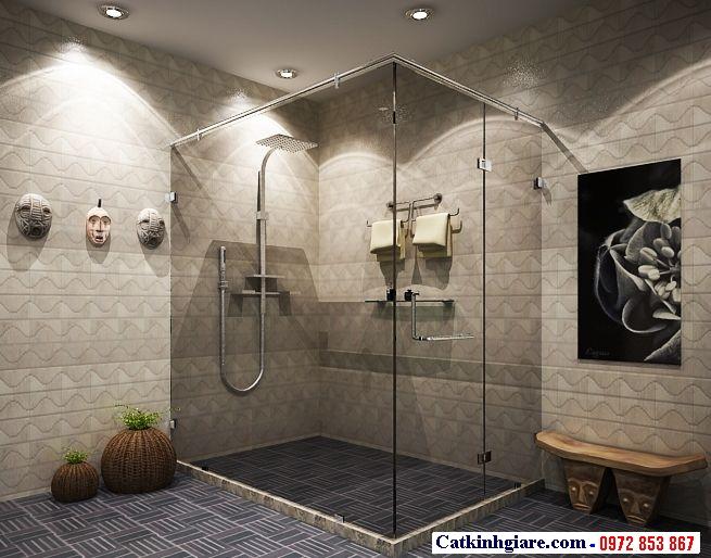 Vách kính phòng tắm góc vuông 1