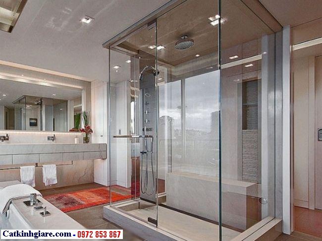 Vách kính phòng tắm góc vuông 3