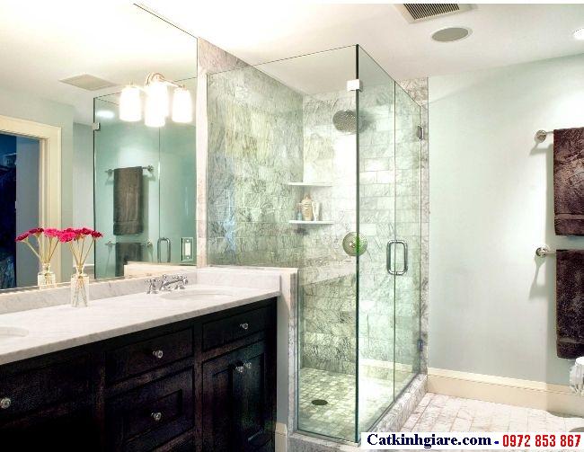 Vách kính phòng tắm góc vuông 4