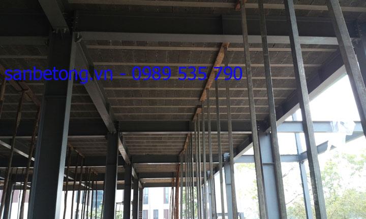 Thi công sàn bê tông nhẹ - Panel Thành Đô