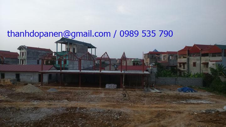 Thi công nhà hàng khung thép tại Lạng Sơn