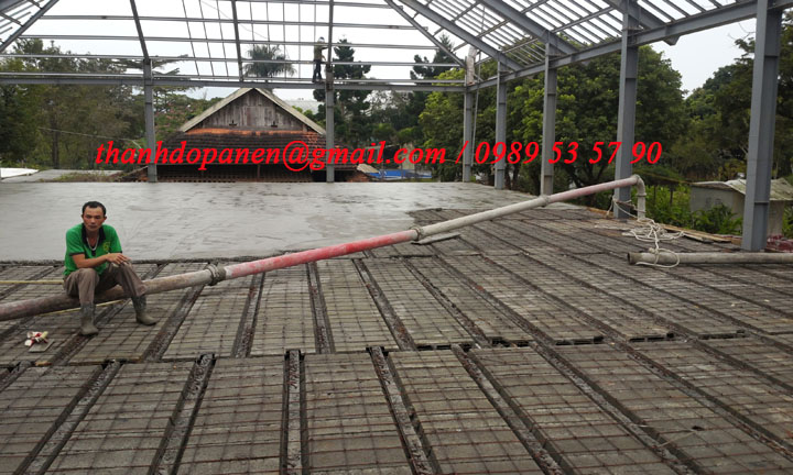 Sàn panel nhẹ kết hợp với bê tông tươi