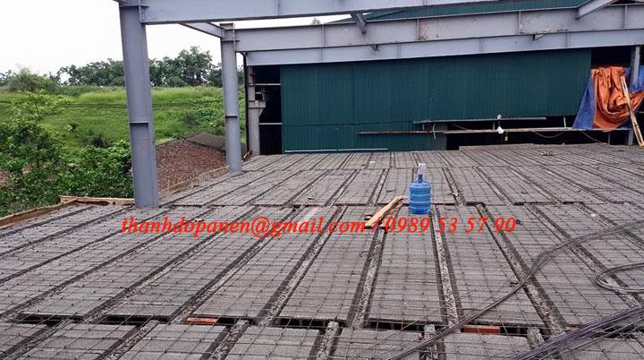 Gạch bê tông nhẹ được lắp ghép xong