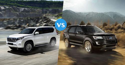 Tân binh Ford Explorer đấu lão làng Toyota Land Cruiser Prado, cái tên nào sẽ chiến thắng?