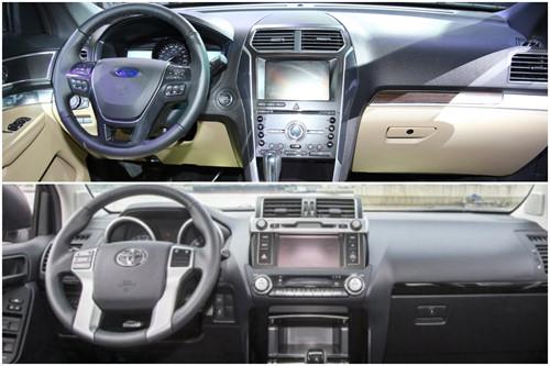Nội thất hai xe: bên tươi mới, bên trung tính