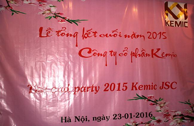 Lễ tổng kết cuối năm 2015 công ty Kemic