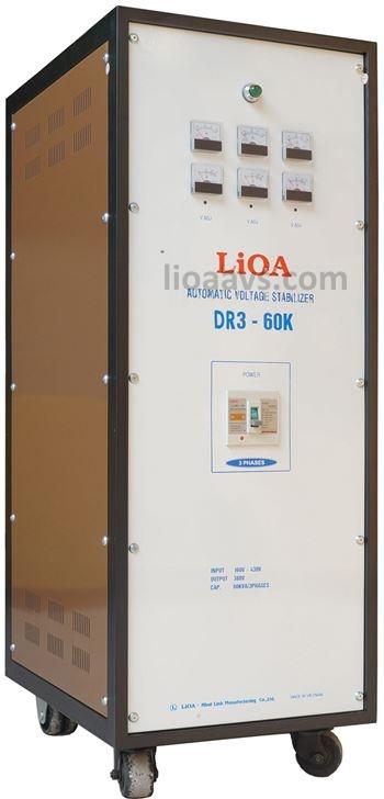 ổn áp lioa 3 pha dr3-60k , lioa 60kva 3 pha