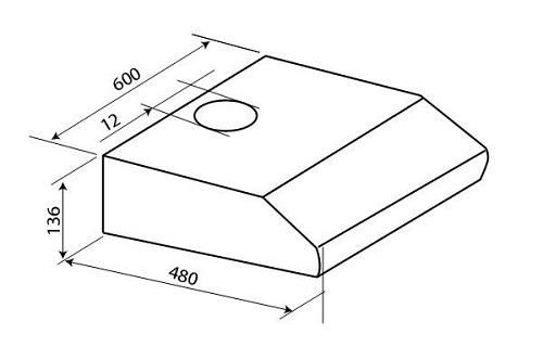 Bản vẽ kỹ thuật máy hút mùi Hafele HH-BI60B