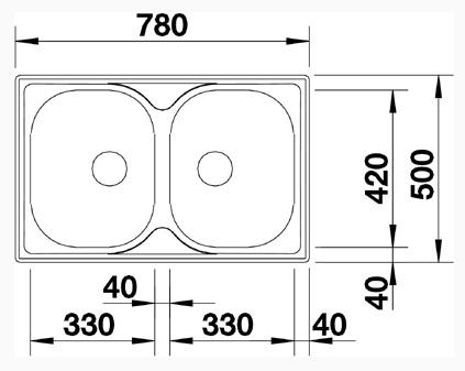 Kích thước lắp đặt chậu rửa bát Blancotipo 8