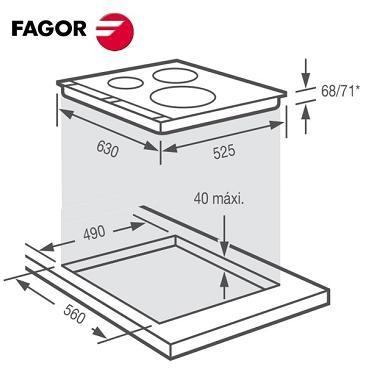 kích thước bếp từ Fagor IF700BS